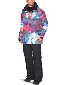 Buy Quiksilver Next Mission Printed Snow Jacket - Inkisition Tomato