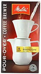 Melitta Coffee Maker, Single Cup Pour-Over Brewer with Travel Mug (Pack of 2) made by Melitta
