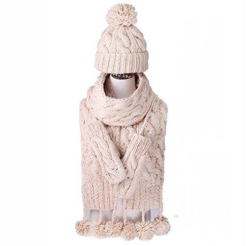 Cappello di inverno Sciarpa Guanti Tre pezzi / Spesso insiemi / scialle sciarpa three-piece / Sciarpe tessuti a mano (3 colori facoltativi) ( colore : A )