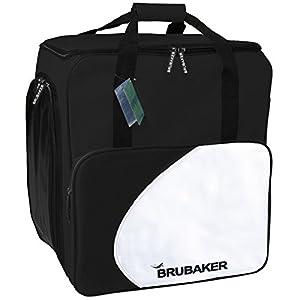 HENRY BRUBAKER Winter Sports Bag 'Lake Placid' Practical Ski Boot Bag Backpack for Boots and Helmet, Black