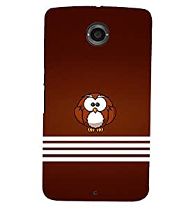PRINTSWAG OWL Designer Back Cover Case for MOTOROLA GOOGLE NEXUS 6