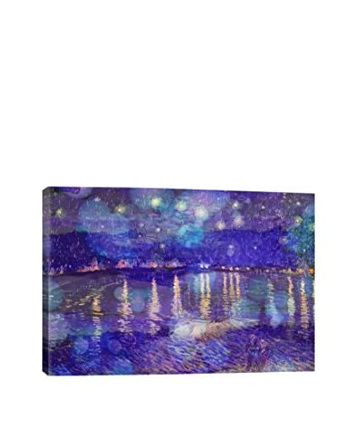 Starry Night Over The Rhone II Gallery Wrapped Canvas Print