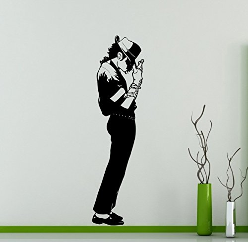 [Michael Jackson King of Pop Wall Decal American Singer Vinyl Sticker Home Decor Ideas Living Room Interior Removable Wall Art] (Michael Jackson Decorations)