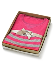 Cashmere Rich Metallic Effect Jumper with Hat in Gift Box