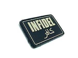 Infidèle PVC Airsoft Velcro Patch Noire