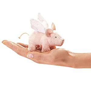 Folkmanis Mini Winged Piglet Finger Puppet