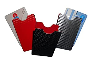 Schutzhülle Cardbox für EC Karten, Geldkarten - Carbondesign schwarz -hochkant