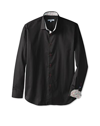 CaféBleu Men's Solid Long Sleeve Shirt