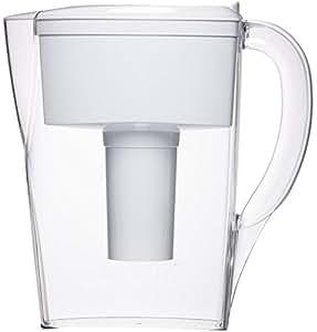 Brita 6-Cup Space Saver Water Filter Pitcher, White