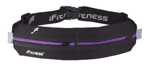 iFitness Inc iFitness Double Pouch, Black/Purple, One Size Fits All