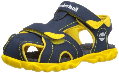 Timberland Boys Splashtown Closed Toe Fashion Sandals C78X1R Navy/Yellow 9.5 UK Child, 27 EU