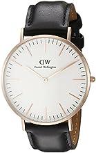 Comprar Daniel Wellington - Reloj analógico para caballero de cuero blanco