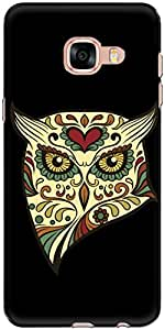 The Racoon Grip angry owl hard plastic printed back case/cover for Samsung Galaxy C5
