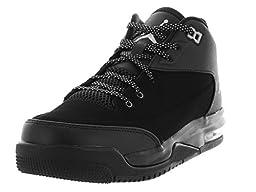 Nike Jordan Kids Jordan Flight Origin 3 Bg Black/Metallic Silver/Black/Black Basketball Shoe 5 Kids US