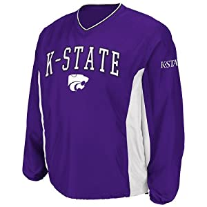 Buy NCAA Kansas State Wildcats Mens Slider Coaches Long Sleeve Pullover Jacket, Purple by Colosseum