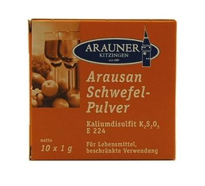 Arauner Kitzinger Aurausan Schwefelpulver, 10x1g von Arauner GmbH & Co.KG - Gewürze Shop