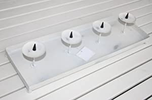 adventstablett 45x15x7cm kerzentablett metall weihnachten. Black Bedroom Furniture Sets. Home Design Ideas