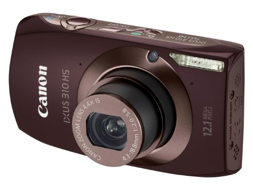 Canon IXUS 310 HS Digital Camera - Brown (12.1MP, 4.4x Optical Zoom) 3.2 inch Touchscreen LCD