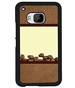 PRINTVISA Coffe Seets Premium Metallic Insert Back Case Cover for HTC One M9 - D5981