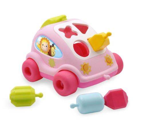 Cotoons Shape Sorter Car, Pink - 1