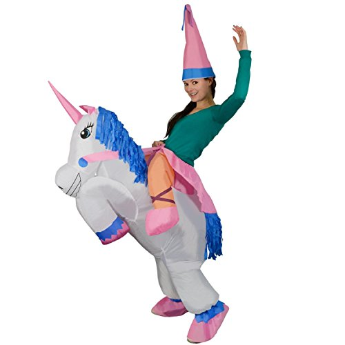 TOLOCO Inflatable Adult Unicorn Rider Halloween Costume