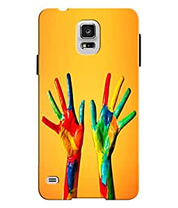 EU4IA Colorful Hands Pattern MATTE FINISH 3D Back Cover Case For SAMSUNG GALA...