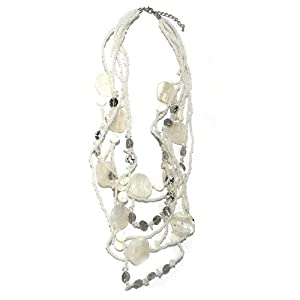 Sg Paris Fashion Jewellery Necklace Woman Shell White