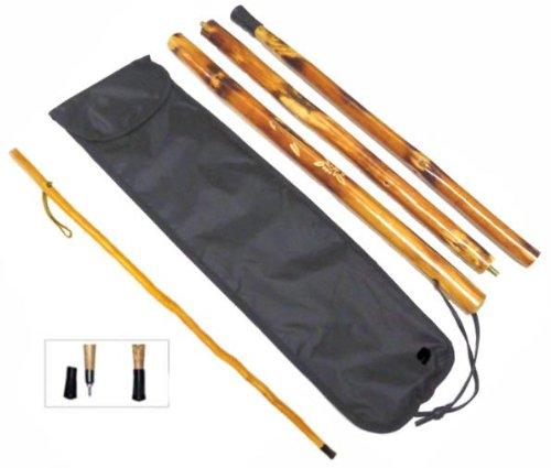 50″ Take-Apart Hardwood Walking Stick, Outdoor Stuffs