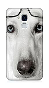 AMEZ designer printed 3d premium high quality back case cover for Huawei Honor 5C (nerdy dog)
