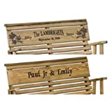 Outdoor 4 Foot Rollback Porch Swing *Treated Pine* Amish Made USA - PERSONALIZED WITH A MESSAGE OF YOUR CHOICE!!!