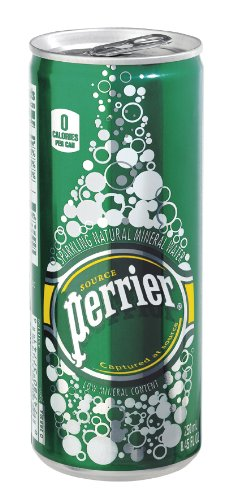 Perrier Sparkling Mineral Water Slim Cans 8.45 Oz - 35 Pack