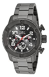 Invicta Mens Speedway Chronograph Gunmetal Stainless Steel Grey Dial Watch