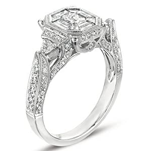 14k 1.52 Dwt Diamond White Gold M.pave Ring - JewelryWeb