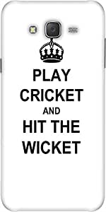 Snoogg Play Cricket And Hit Wicket White Designer Protective Back Case Cover ...