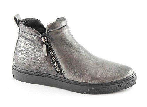 GRUNLAND PUNT PO0869 antracite scarpe donna mid cerniera elastico platform 39