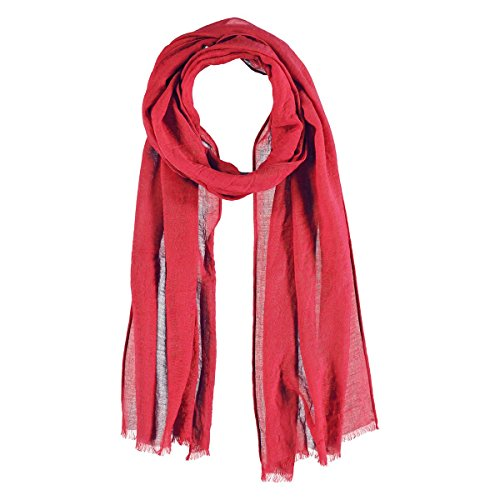 Chiffon Sciarpa con Viscosa Passigatti sciarpa estiva sciarpa da donna Taglia unica - rosso