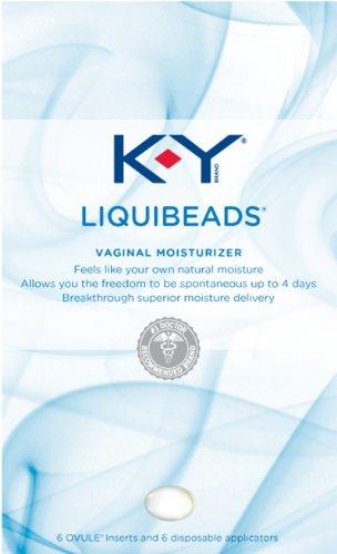 K-Y Liquibeads Vaginal Moisturizer, 6-Count Applicators