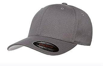 Premium Original Flexfit V-Flexfit Cotton Twill Fitted Hat 5001 Small/Medium Gray