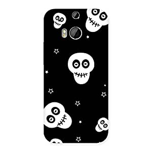 Enticing Skull Star Back Case Cover for HTC One M8