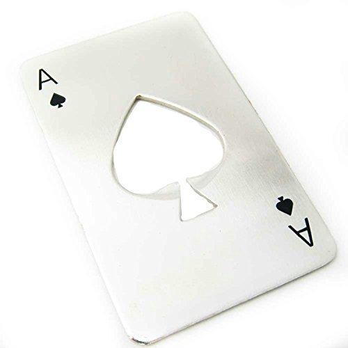 Poker Playing Card Ace of Spades Bottle Opener Novelty Secret Santa Xmas Gift by FREE SKY