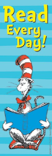 Eureka Dr. Seuss Bookmarks, Set of 36, Cat in The Hat Read Every Day