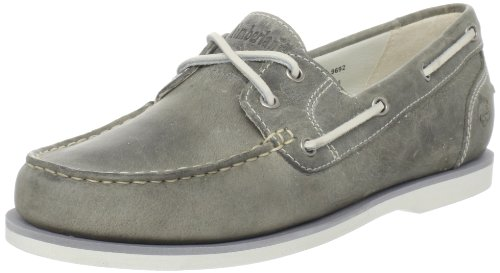 Timberland Women's Amherst Boat Shoe,Grey,9 M US