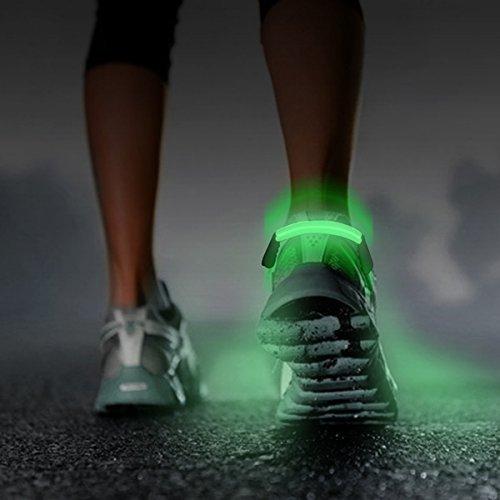 Sicherheits LED Schuhclip für Läufer und Radfahrer - Nachts sicher laufen