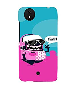 PrintVisa Cool Cartoon Design 3D Hard Polycarbonate Designer Back Case Cover for Micromax Canvas Android A1