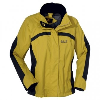 Jack Wolfskin Outdoor Topaz Jacket Women, yellow green, Gr. L