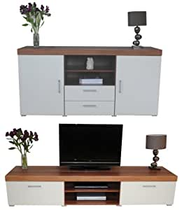 White walnut sydney 2 metre tv cabinet large sideboard Living room furniture sydney