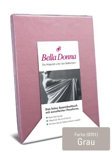 Bella Donna Spannbetttuch Grau 180/200-200/220cm