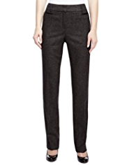 M&S Collection Luxury New Wool Blend Modern Slim Leg Trousers with Cashmere
