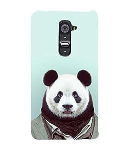 Cute Balu Dress Up 3D Hard Polycarbonate Designer Back Case Cover for LG G2 :: LG G2 D800 D980