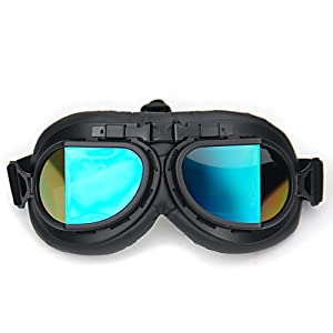 Tactical Ski Skiing Snowboard Snowmobile Black Frame Rainbow Lens Sun